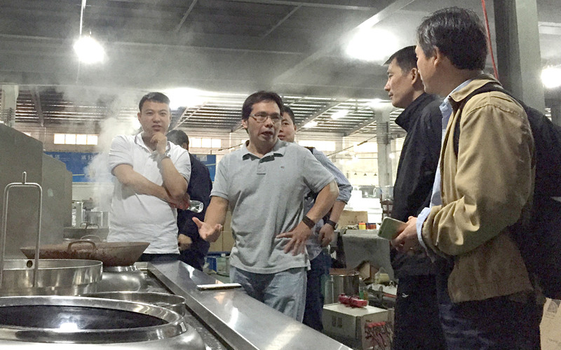 Mr. Zhou from Panda Express visit Lestov induction factory