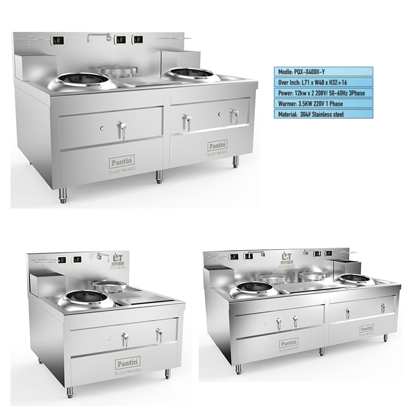 Custom Lestov induction cookers are shown in NRA