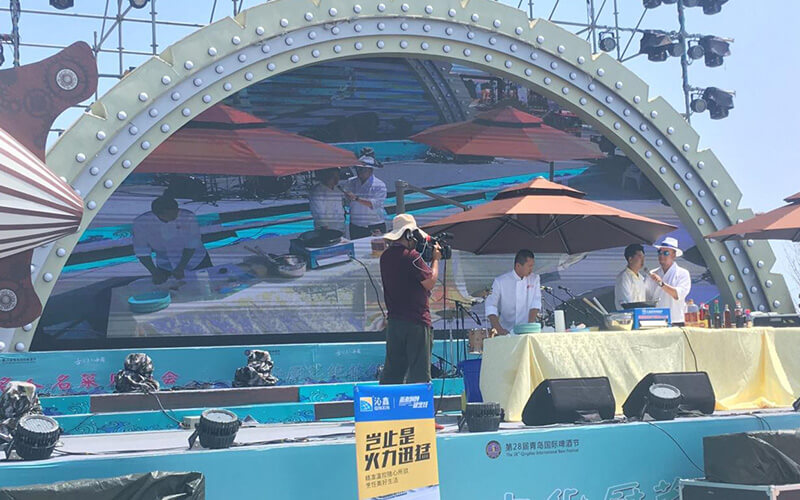 The appliance of Induction cookers at Qingdao International Beer Festival-2