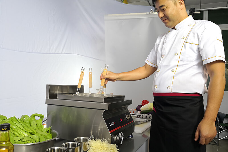Why do commercial induction cookers benefit the chef?