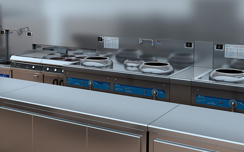 Induction cooker in commercial kitchen